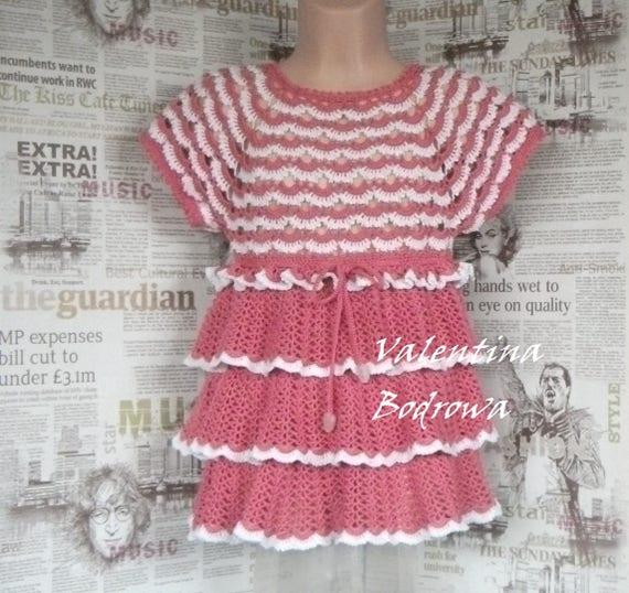 Kleine Mädchenkleider Kleid Für Mädchen Häkeln Babykleid Etsy