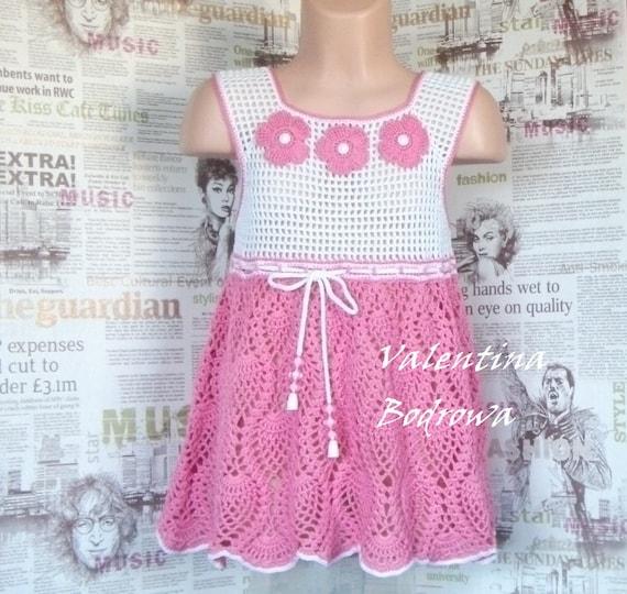 Häkeln Die Kleinen Mädchen Kleid Kleid Baby Mädchen Kleider Etsy