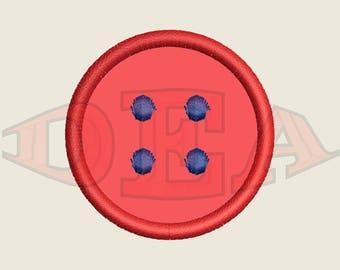 Button (Applique) - Instant Download Machine Embroidery Design