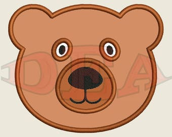 Bear (Applique) - Instant Download Machine Embroidery Design
