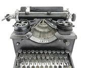 typewriter print, vintage typewriter, Industrial art print, vintage prints, watercolor wall art, industrial decor, watercolor print, vintage