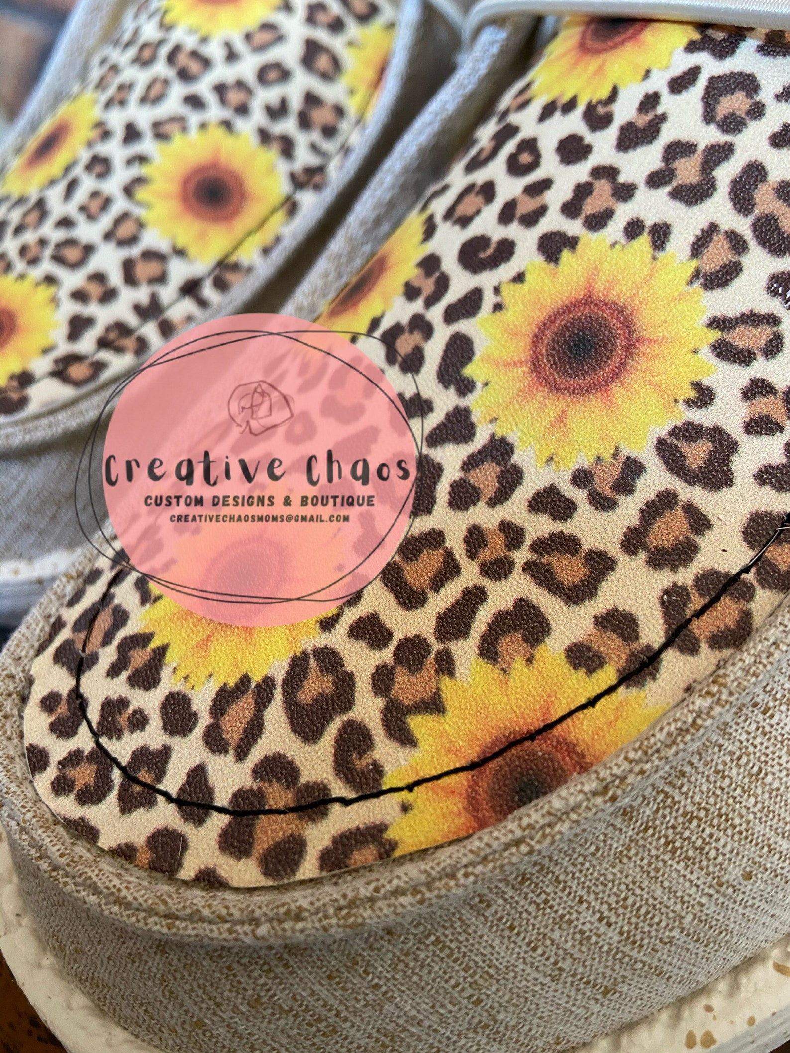 Cheetah & Sunflower Hey Dudes w/ Hair on Cowhide | Etsy