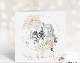 Mother's Day Card from daughter, Happy Mother's Day card, Floral card for Mum, Card for Grandma, Nanny Day on Mother's Day