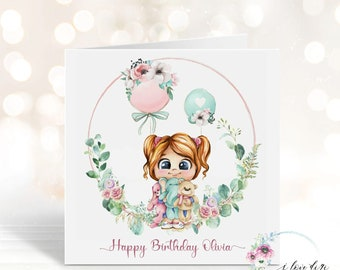 Happy Birthday to my amazing Granddaughter, Birthday card from Grandma and Grandpa, Card for little girl, One of a kind design card