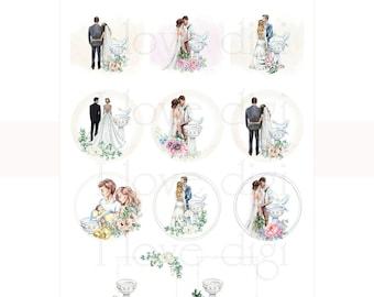 Wedding and Baptism  digital collage sheet,