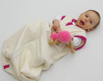 Sleep Sack for 2 months to 24 months old babies and toddlers made of Merino Wool and Organic Cotton | Natural sleep blanket |Sleeping bag