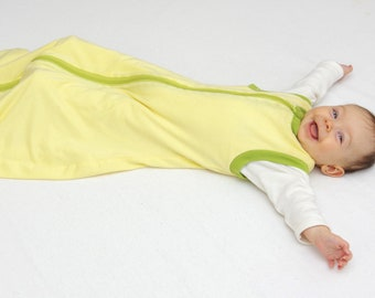 Sleep Sack made of Merino Wool and Organic Cotton for 2-24 months old baby and toddler | Summer weight| Sleeping bag | Wearable blanket