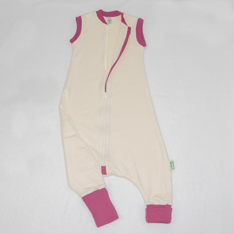 cheaper 663c3 ea970 MERINO WOOL Sleep Sack with FEET for babies and toddlers 12 months to 2  years old | Organic Cotton | Footed natural sleeping bag