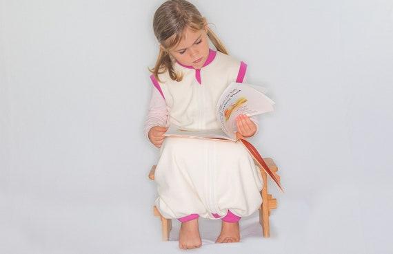 size 40 848dd 29ae4 MERINO WOOL Sleep Sack w/open legs size 12-24m and 2-4+ year old children |  Footed sleeping sack | Organic sleep sack with feet | Pink