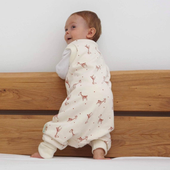 JiAmy Baby Muslin Sleeping Bag with Feet Short Sleeve Sleepsacks with Legs for Toddler Bedding Nursery