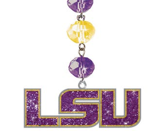"/"" LOUISIANAN STATE UNIVERSITY TIGERS /"" LIFETILES PENDENT CHARM JEWELRY TILE LSU"