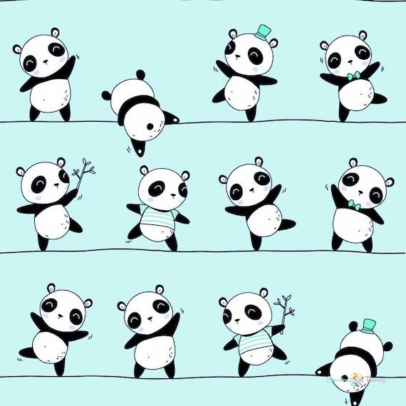 Panda Baumwollgewebe durch das Hof Panda Druck Nähen Stoff