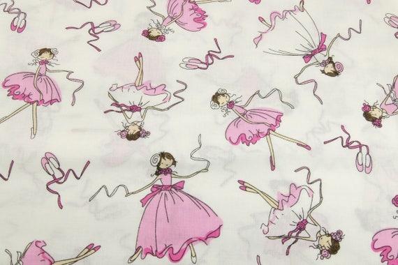 Rosa Ballerinas Fabrik, Ballettschuhe drucken, Ballettschuhe Fabric Schüttgut