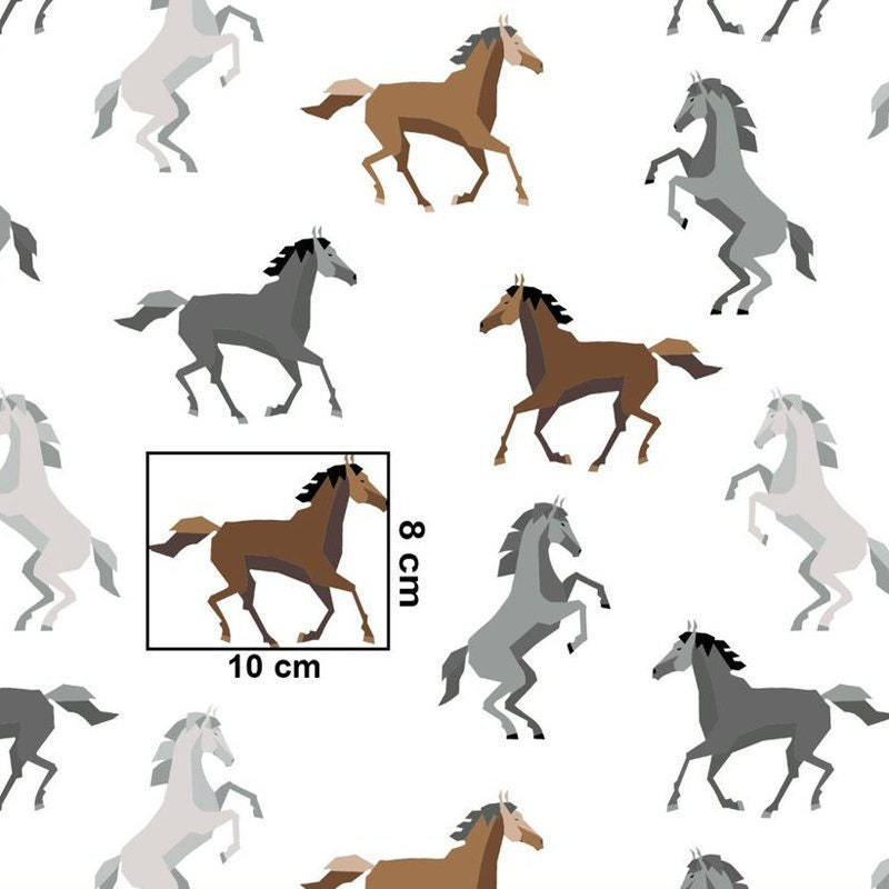 Wild Horses Print Fabric By The Yard Fabric For Pillows Etsy