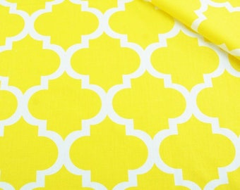 Yellow moroccan fabric, morocco cotton fabric by the yard
