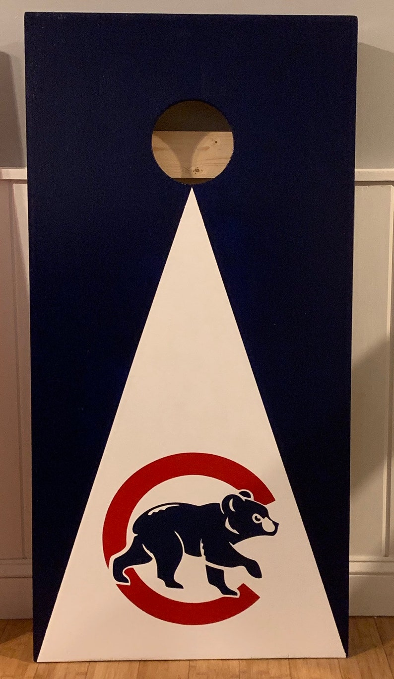 Chicago Cubs Cubby Bear Cornhole Bean Bag toss Boards with 8 bags