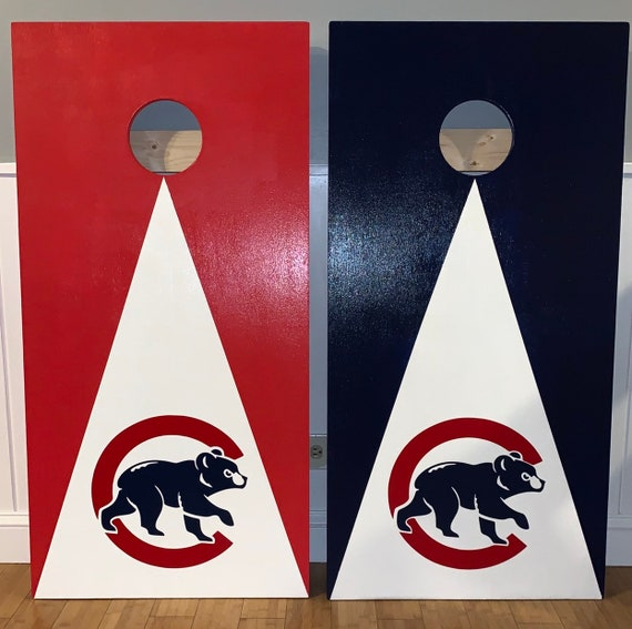 Tremendous Chicago Cubs Cubby Bear Cornhole Bean Bag Toss Boards With 8 Bags Alphanode Cool Chair Designs And Ideas Alphanodeonline