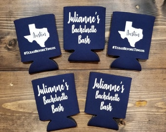 Personalized Can coolers,Beer can holder,Can sleeves,Wedding Gifts,Bachelorette Party,Christmas Gifts, Stocking Stuffers,Groomsmen Gifts