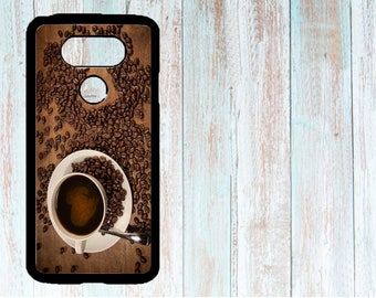 Cover for LG phone, Personalized phone cover, Custom LG phone cover, Case for LG G3/G4/G5/G6, Cup of coffee, for coffee lovers, food art