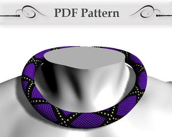 Bead crochet rope pattern, Bead Crochet Necklace Pattern, pattern for bead crochet necklace, Bead Crochet Tutorial Bracelet Pattern how to