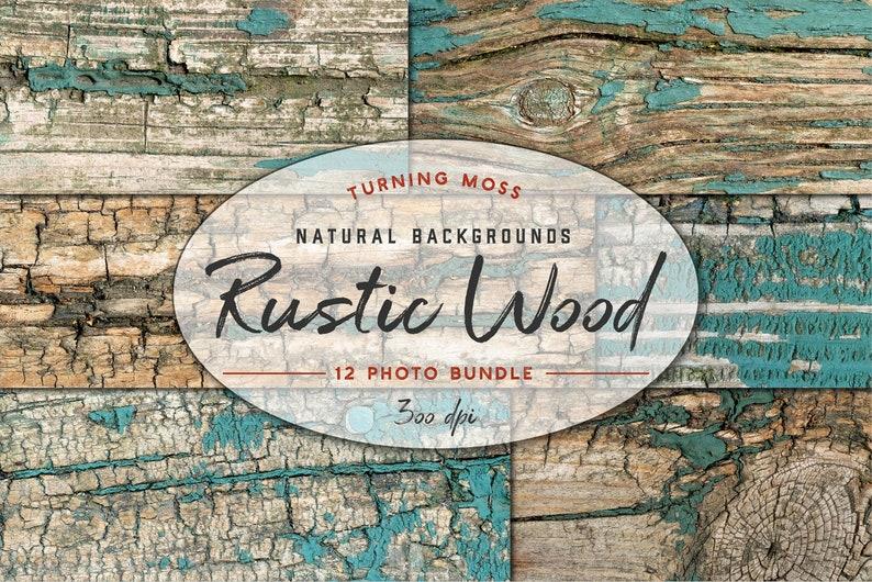 Rustic Wood Digital Paper  Natural Texture  Wooden image 0