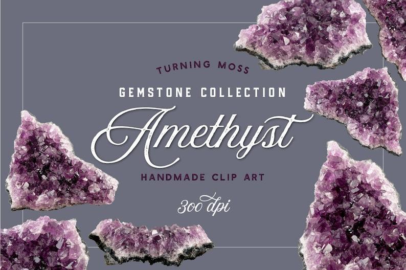 Digital Amethyst ClipArt  Digital Gemstones  Crystal Clip image 0