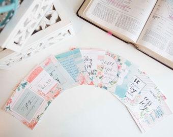 Scripture Cards / Joy Bible Verse Cards / Encouraging Verse Cards / Scripture Card Set 10 / Christian Gifts / Faith / Prayer Journal /