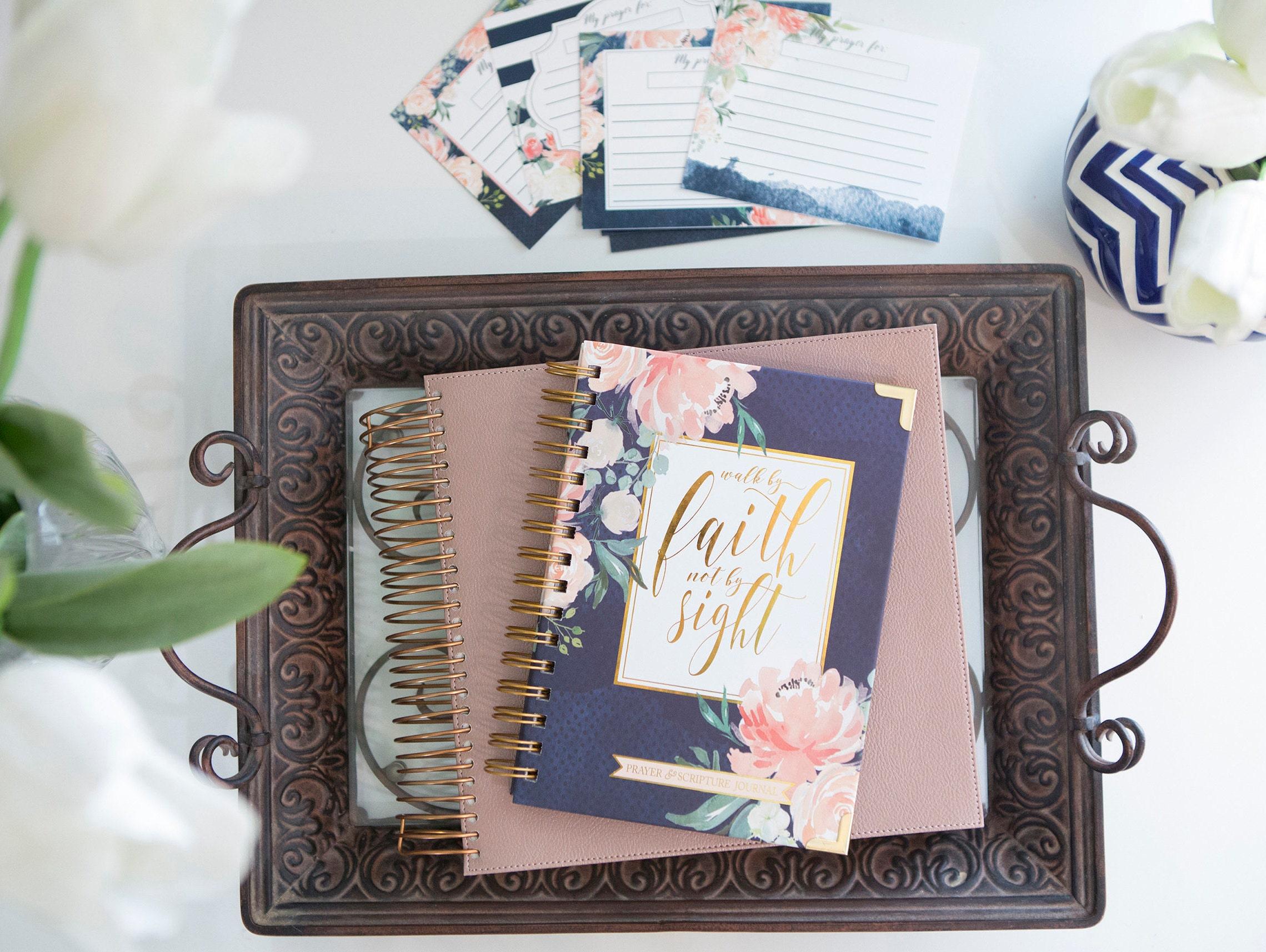 Prayer Journal & Prayer Card Bundle / Bible Study Journal / Christian Gifts  / Christian Journal / Inductive Bible Journal / Sermon Notes