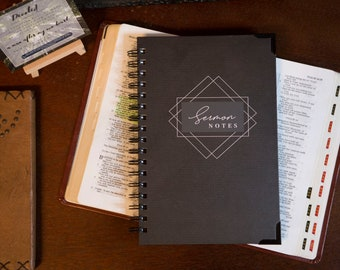 MEN'S Sermon Notes | Notebook for Church | Church notes | Sermon Journal | Sermon Notebook | Gifts for Christian Men | Father's Day Gifts