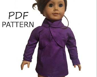 Doll Suit PDF Pattern, American Girl Doll Jacket, Suit Pattern for 18 in Doll, Doll PDF Suit Pattern, 18 inch Doll Suit Pattern