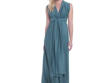 Belissia Green Long Dress