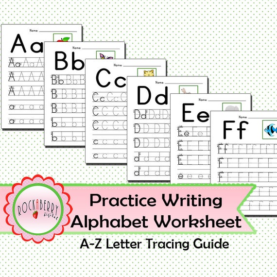 Preschool Toddler Practice Writing Alphabet With Tracing Guide Etsy