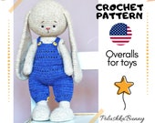 Doll Toy clothes crochet pattern for bunny cat bear
