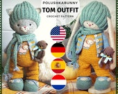 Crochet pattern quot Tom quot Outfit - for Kitten and Bunny Toys amigurumi animals by Polushkabunny
