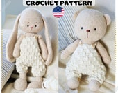Doll Toy clothes crochet pattern for bunny cat bear lamb dog