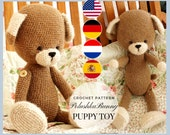 Puppy Dog Toy Crochet pattern pdf - amigurumi animals pattern