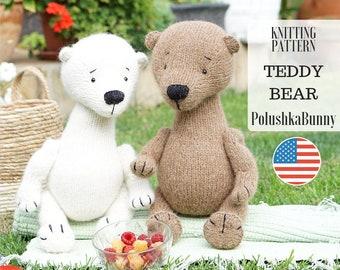 Toy Knitting SUPPLY KIT - Teddy Bear Toy /Photo Tutorial, Written ...   270x340