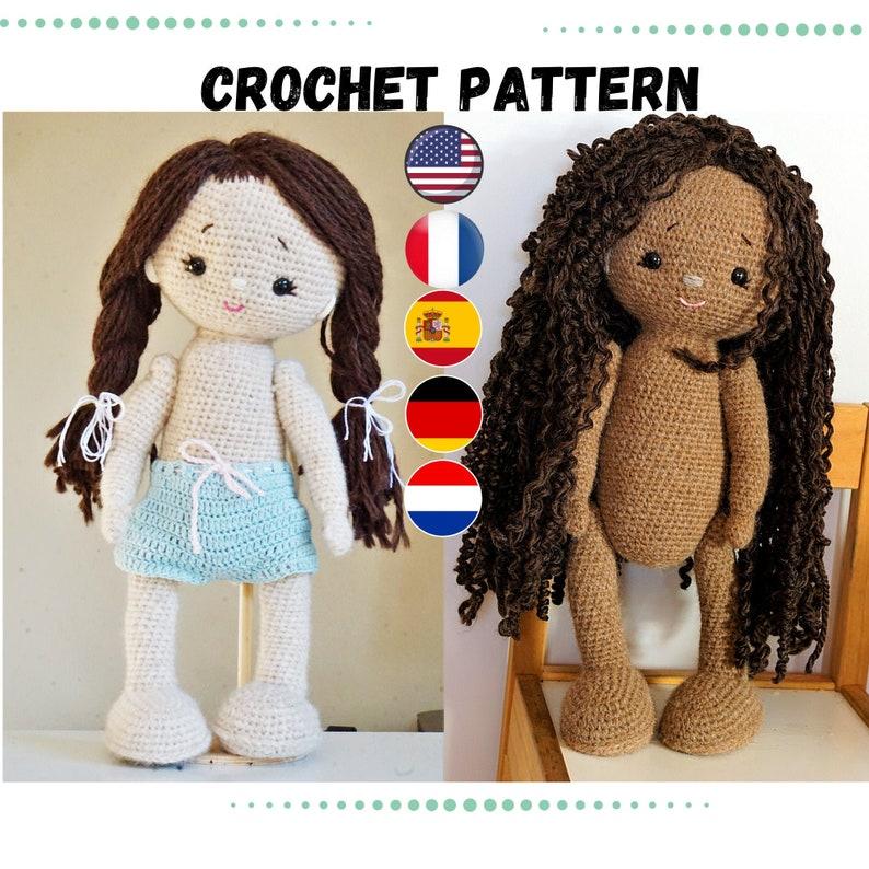 crochet doll patterns  amigurumi doll  English Deutsch image 0