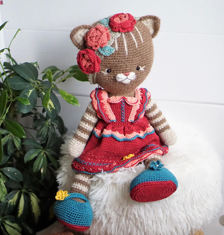 Cat Princess Amigurumi Pattern, Realistic Cat Crochet Pattern ... | 3000x2856