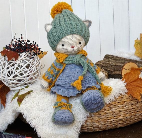 Amazon.com: Yellow White Black Puppy Dog Toy Crochet Hooked ... | 554x570