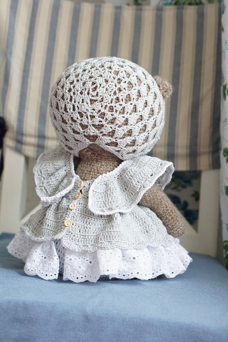 Teddy Bear Baby Set- Blanket, Hat, Booties [Free Crochet Pattern]   1191x794