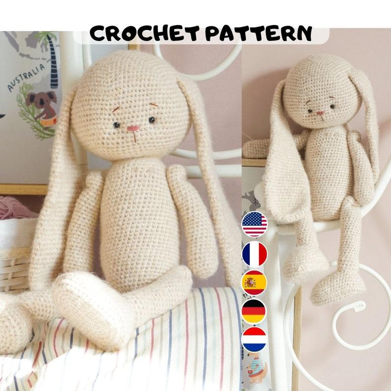 Bunny amigurumi pattern  bunny PDF crochet pattern  English image 0