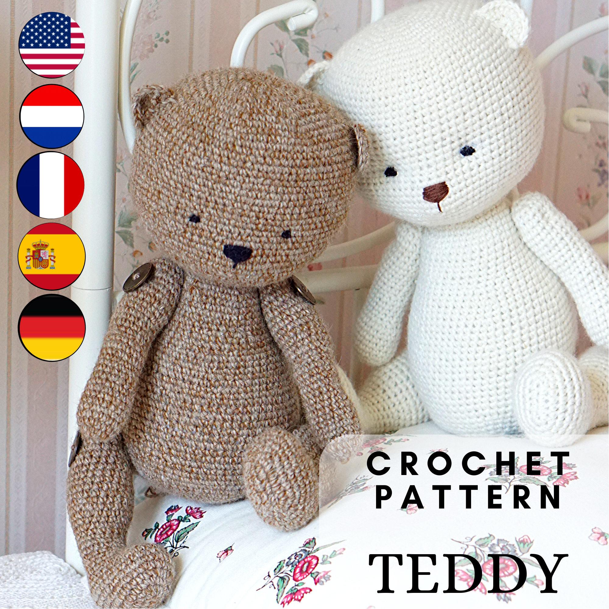 Crochet Teddy Bear Applique - Repeat Crafter Me   2000x2000
