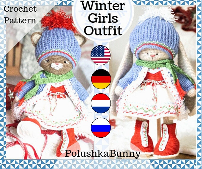 Amigurumi Winter Bunny Free Pattern – Free Amigurumi Patterns in ... | 567x680