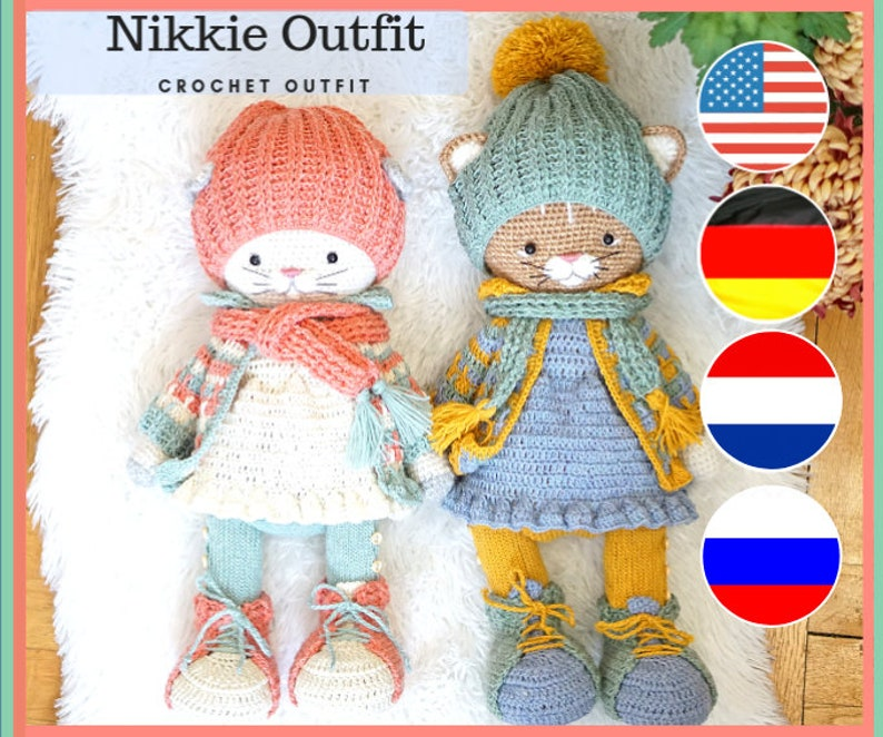 d806ab41dde Crochet pattern Nikkie Outfit for Bunny and Kitty by