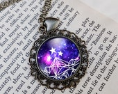 Night Court Purple Galaxy Necklace, A Court of Thorns and Roses, Mist and Fury, ACOMAF ACOTAR Jewelry, Bracelet, Ring or Keychain