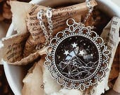 Black Night Court Galaxy Necklace, A Court of Mist and Fury, Thorns and Roses, Wings and Ruin, Sarah J Maas Necklace, Keychain, Bracelet