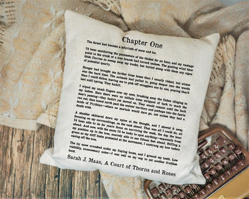 A Court Of Thorns And Roses Pillow Acotar Pillow Cover Mist Etsy