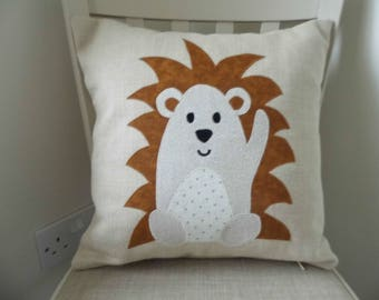 Handmade Hedgehog Cushion for Baby's Nursery or Child's Bedroom