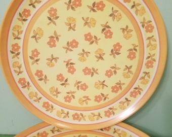 Lenox Ware Dinner Plate Set of 6 Vintage 1960's MCM Melamine